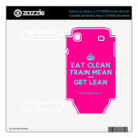[Crown] eat clean train mean and get lean  Electronics Skins Samsung Galaxy S Decal