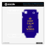 [Crown] keep calm and eat wings  Electronics Skins Samsung Galaxy S Decal
