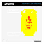 [Smile] keep calm and smile on  Electronics Skins Samsung Galaxy S Decal