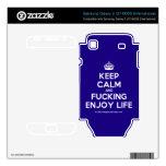 [Crown] keep calm and fucking enjoy life  Electronics Skins Samsung Galaxy S Decal