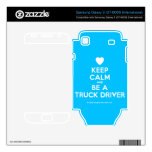 [Love heart] keep calm and be a truck driver  Electronics Skins Samsung Galaxy S Decal