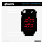 [Crown] i will not keep calm and you can fuck off  Electronics Skins Samsung Galaxy S Decal