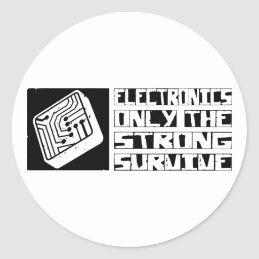 Electronics Survive Classic Round Sticker