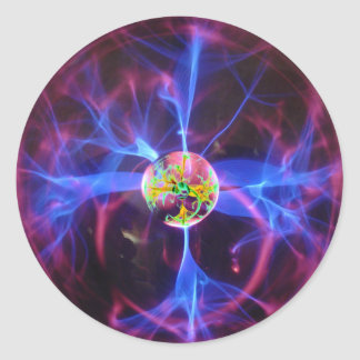 Electrosphere Psychedelic Visual Classic Round Sticker
