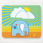 Elefant lindo Mousepad Tapetes De Ratón