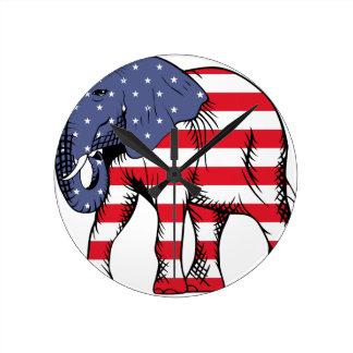 Elefante 2016 de la elección de los E.E.U.U. Reloj Redondo Mediano