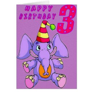 Elefante 3 felicitación