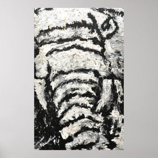 Elefante abstracto póster