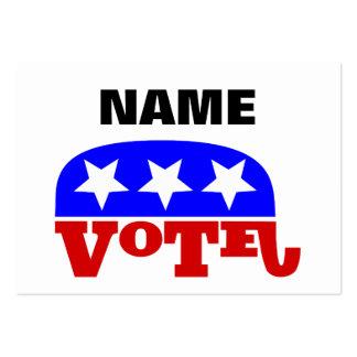 Elefante adaptable del republicano del voto de la tarjetas de visita grandes