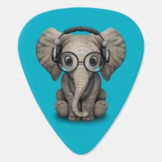 Elefante adaptable DJ del bebé con los auriculares Plumilla De Guitarra