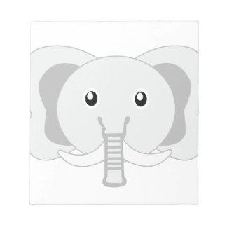 Elefante adorable poco parque zoológico bloc de papel