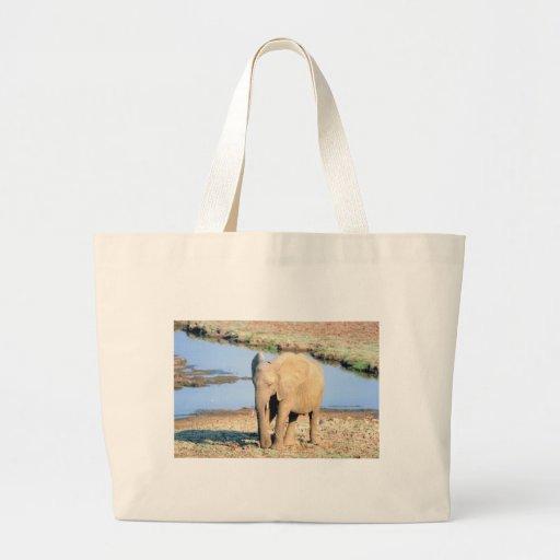 Elefante África Bolsas Lienzo