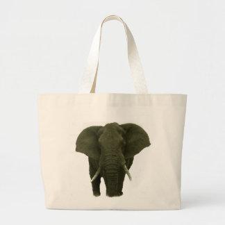 Elefante africano bolsa tela grande