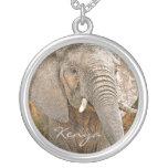 Elefante africano colgante personalizado