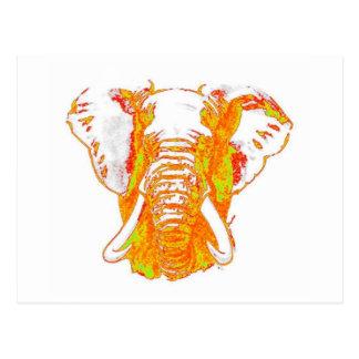 Elefante africano del arte pop postales