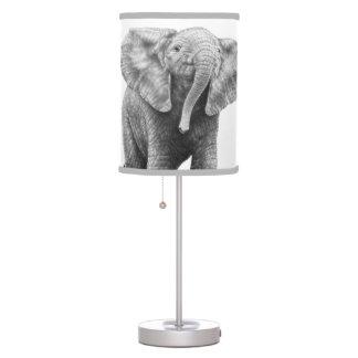 Elefante africano del bebé lámpara de mesa