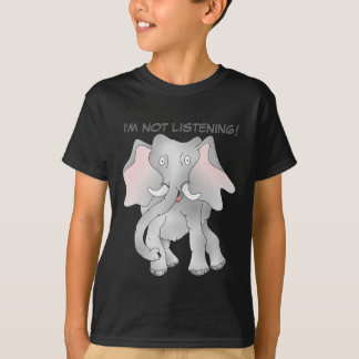 Elefante africano del dibujo animado feliz playera