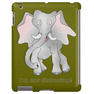 """Elefante africano espigado grande """"no estoy escuch funda para iPad"""
