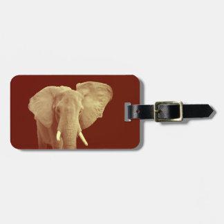 Elefante africano - etiqueta del equipaje de la