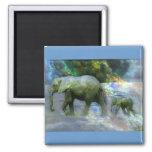 Elefante africano imán para frigorifico