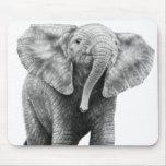 Elefante africano Mousepad del bebé Tapete De Raton