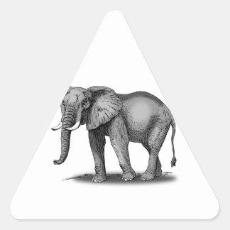 Elefante africano pegatina triangular