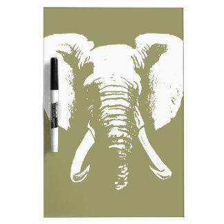 Elefante africano pizarras blancas de calidad