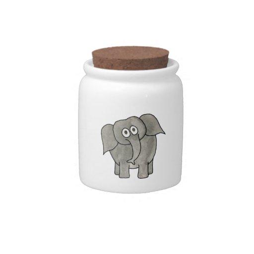 Elefante africano platos para caramelos