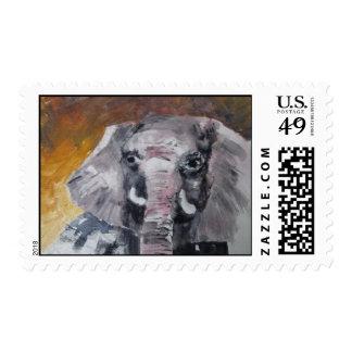Elefante africano sellos postales
