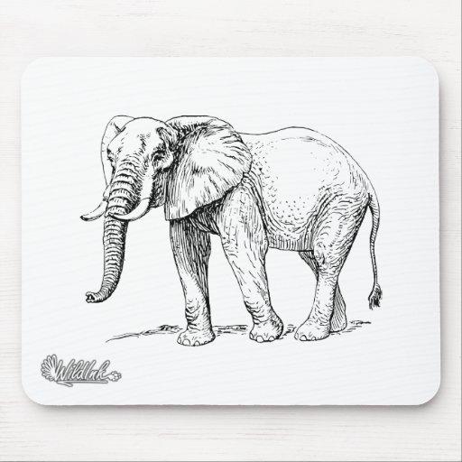 Elefante africano tapetes de ratones