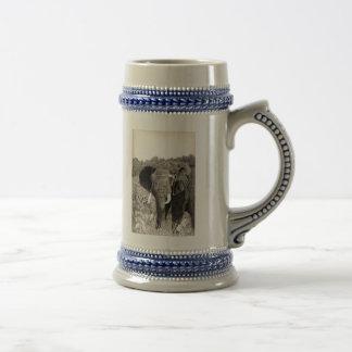 Elefante africano jarra de cerveza