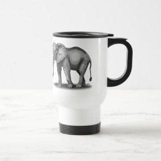 Elefante africano taza de viaje