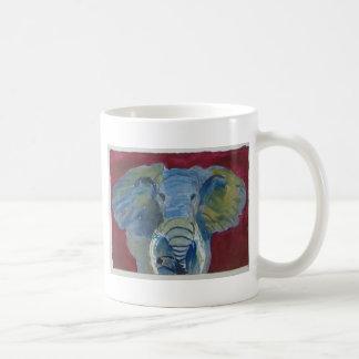 Elefante africano vía arte del animal del aceo de  tazas de café