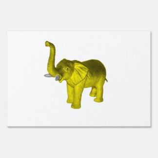 Elefante amarillo cartel