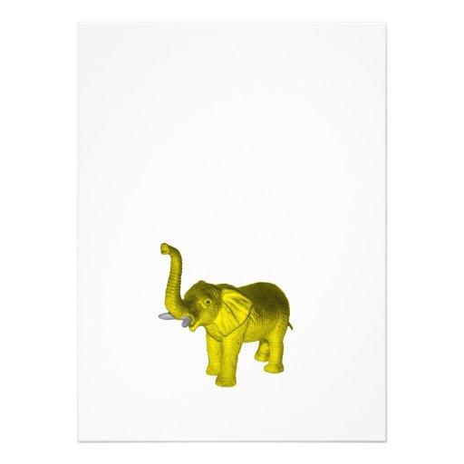 Elefante amarillo invitación personalizada