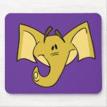Elefante amarillo Mousepad Alfombrilla De Ratón