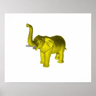 Elefante amarillo poster