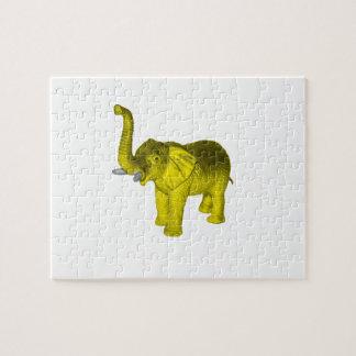 Elefante amarillo puzzle
