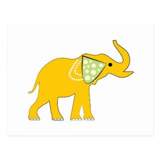 Elefante amarillo postal