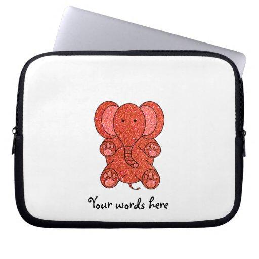 Elefante anaranjado del brillo manga computadora