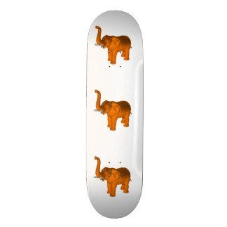 Elefante anaranjado patines personalizados
