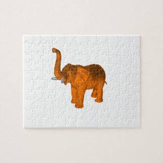 Elefante anaranjado puzzle