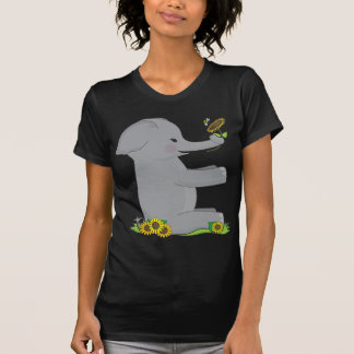 Elefante animal del alfabeto playera