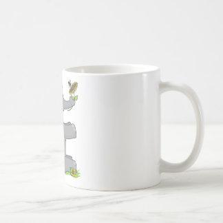 Elefante animal del alfabeto taza de café