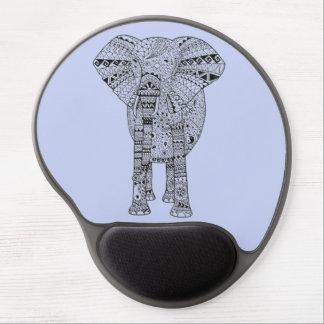 Elefante artsy ilustrado mano alfombrilla con gel