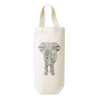 Elefante artsy ilustrado mano única