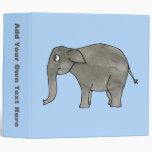 Elefante asiático, en azul claro.