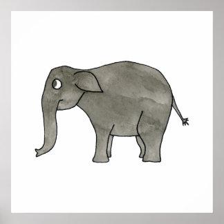 Elefante asiático posters