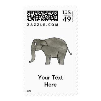 Elefante asiático sello
