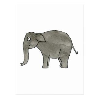 Elefante asiático tarjeta postal